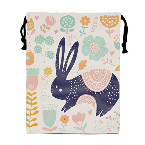 Cute Bunny Party Favors Bags Gift Candy Drawstring Pouch