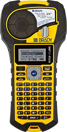 Brady Bmp21 Plus Handheld Label Printer With Rubber Bumpers  Multi Line Print  6 To 40 Point Font