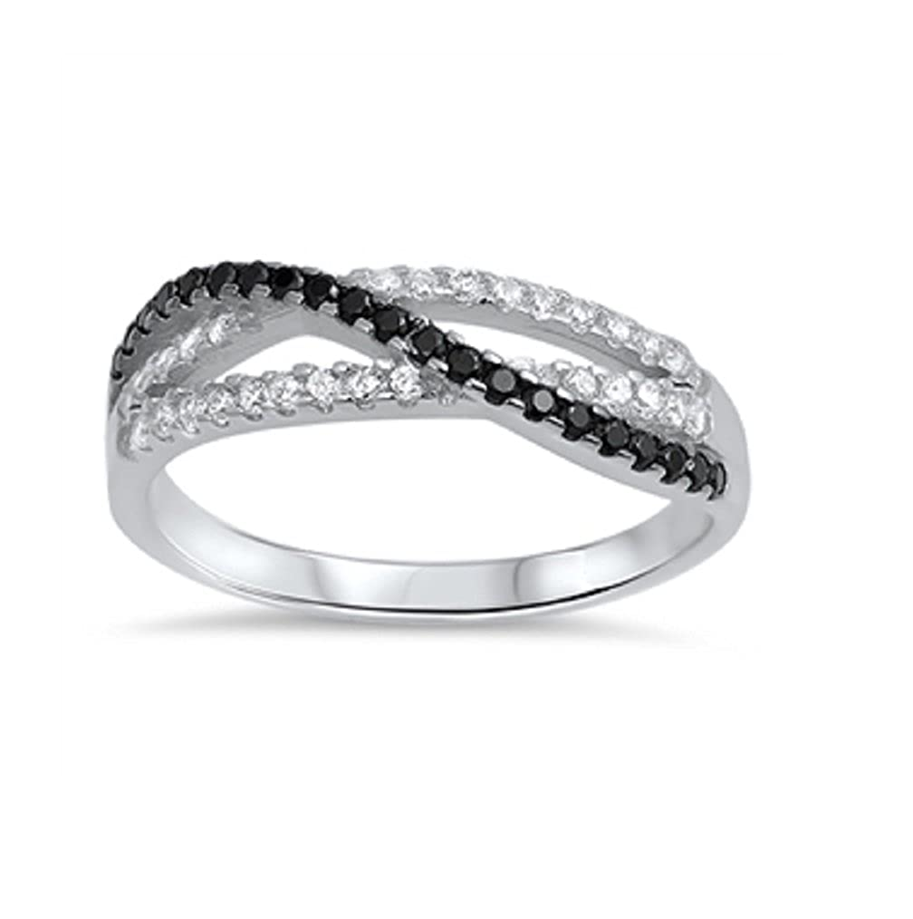 CloseoutWarehouse Cubic Zirconia Designer Ring Sterling Silver