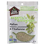Club House, Quality Natural Herbs & Spices, Organic Italian Seasoning, 11g