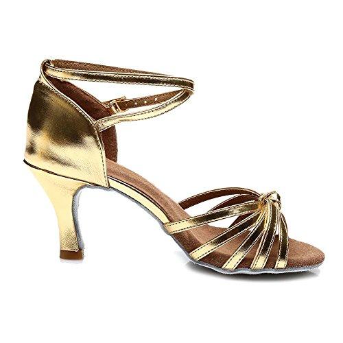 7cm Larghezza altezza Tacco Standard Oro Donna Model Latino Scarpe HIPPOSEUS Stretta da Ballo IT217 Avw0SxFq