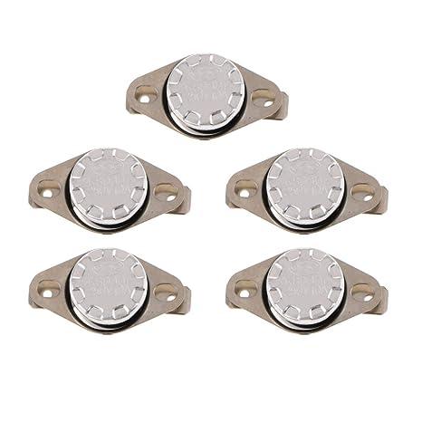 Homyl 5x Interruptor de Control Térmico para Dispensador de Agua Botellas Eléctricas - Plata a