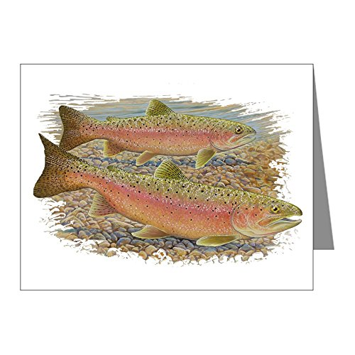 (CafePress - Trout Pair Note Cards (Pk of 20) - Blank Note Cards (Pack of 20) Glossy)
