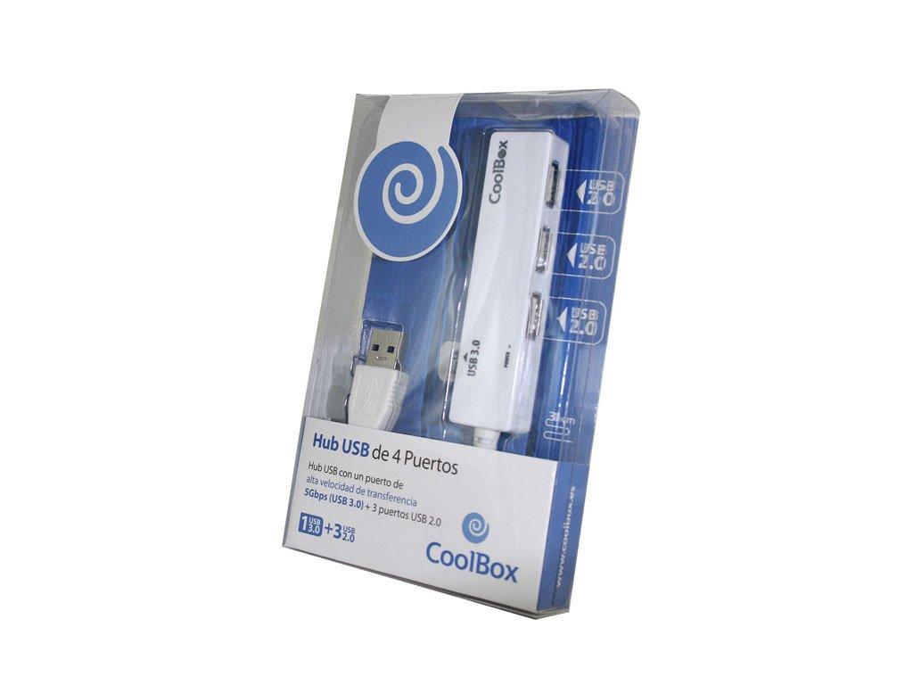Coolbox COO-H413 - Hub USB (1 x USB 3.0 y 3 x USB2.0): Amazon.es: Informática
