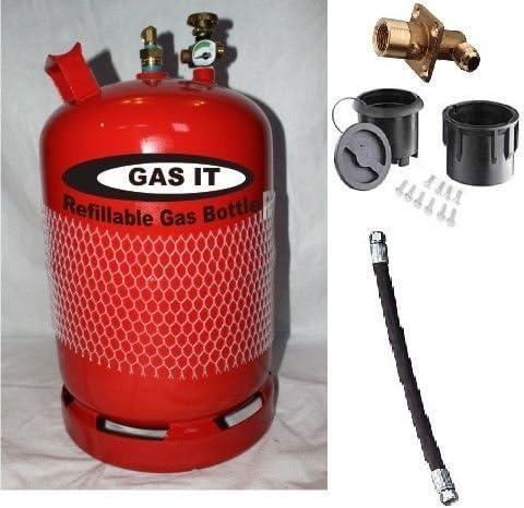 Botella de GLP Gas que GLP rellenable 6 kg y mando a distancia para Kit
