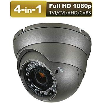 Analog960H//HD-CVI //TVI//AHD 1080p 2.4MP 2.8-12mm VF Varifocal Dome Camera 4 IN 1