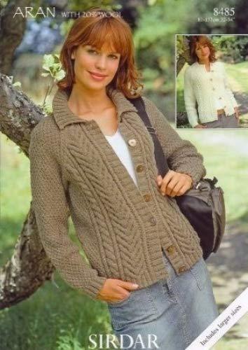 Sirdar Bonus Aran With Wool Ladies Knitting Pattern 8485 Amazon