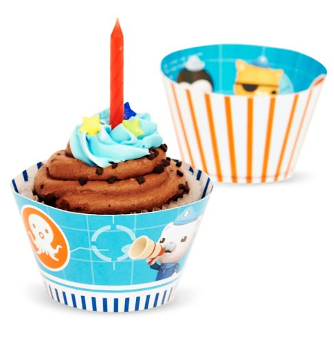 The Octonauts Party Supplies - Reversible Cupcake Wrappers (12)