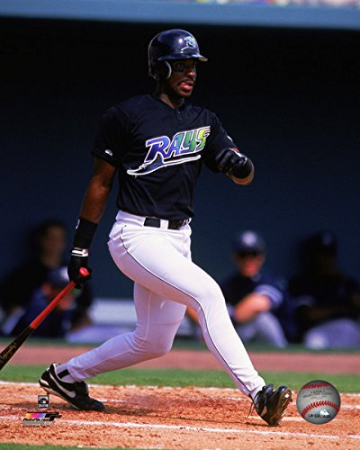 (Fred McGriff Tampa Bay Devil Rays MLB Action Photo (Size: 8