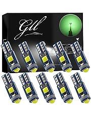GLL 10 stks Groene T5 LED-lampen 3030 3SMD W1.2W W3W Lampen voor Auto Dashboard Lichten 120 Lumen