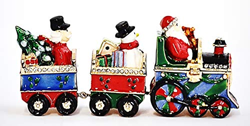 Ciel Collectables Holiday Train Trinket Box. Hand Done with Swarovski Crystals & Colorful Enamel