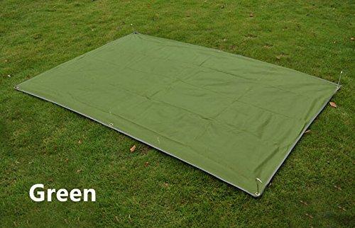 1.5*2.1m 2 Person Moisture Thick Oxford Groundsheet Footprint Outdoor Picnic Camping Mat Pad Tarp Beach Tent Awning (GREEN)