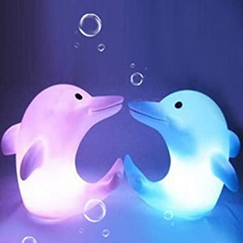 1PC Cute Dolphin Shape LED Night Light Lamp Color Changing Gift Toy