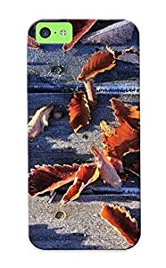 Awesome Design Frozen Autumn Leaves Hard Case Cover For Iphone 5c(gift For Lovers)
