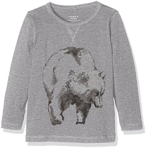 NAME IT Jungen T-Shirt Nitvux LS Top S MZ Ger, Grau (Grey Melange), 110