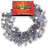 Wire Garland 25 Feet/Pkg-Silver Stars