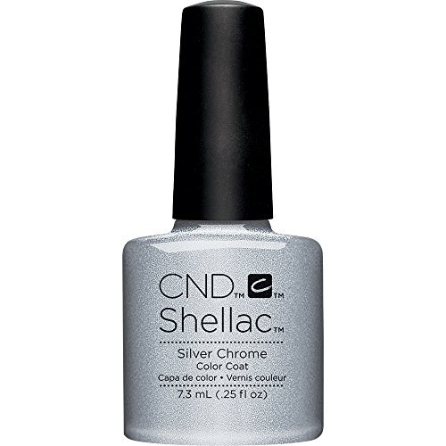 CND Shellac Nail Polish, Silver Chrome, 0.25 fl. oz.
