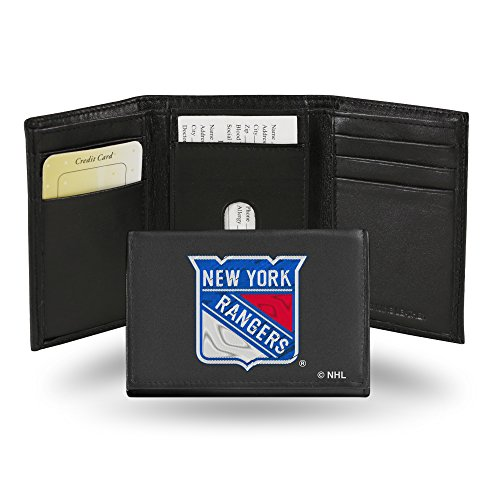 NHL New York Rangers Embroidered Leather Trifold Wallet