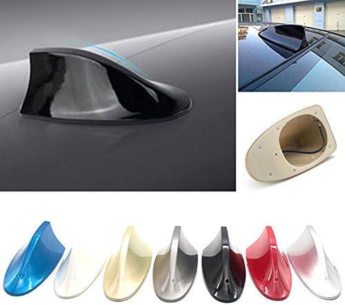 Antena universal de coche antena de aleta de tiburón señal de radio para auto, SUV, camión, furgoneta, techo, antena modificada (17,1 x 7,5 x 6 cm, ...