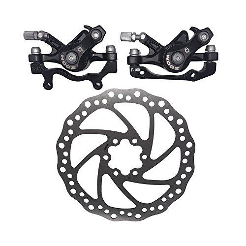 ZOOM Genuine 160mm Disc Brakes Mountain F160/R160 Bike Mechanical Calipers Set by Sport & Live