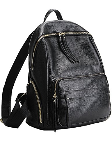 Women Leather Hiking Backpacks Desigual Bag Black - 2