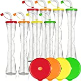 Yard Cups Party 8-PACK - for Margaritas, Cold Drinks, Frozen Drinks, Kids Parties - 14 oz. (400 ml) - set of 8 Yard Cups. BPA Free and Crack Resistant (Assorted)