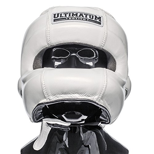 Ultimatum Boxing Gen3FaceBar WhiteForce Professional Facebar Headgear