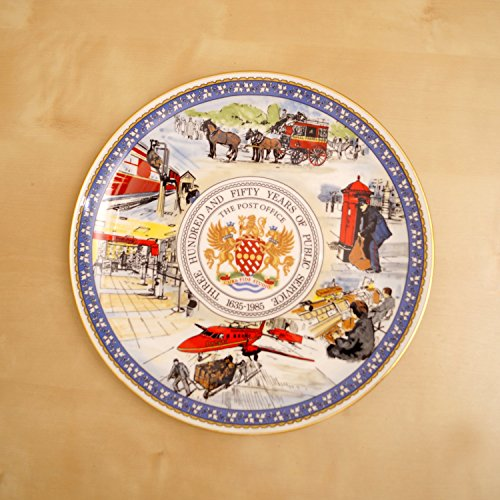 The Post Office 350 years of Public Serving 1635-1985 CoalPort Fine Bone China Decorative Plate Made in - Coalport China Bone Plates