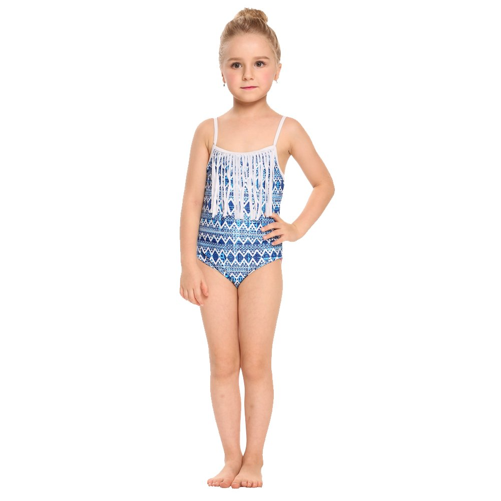 Arshiner Rainbow Wave One Piece Swimsuit For Little Kids