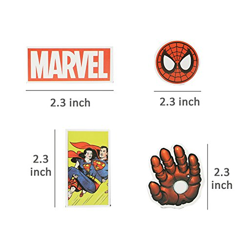 Marvel Decal Stickers 50 PCS Laptop Sticker Waterproof Vinyl Stickers Car Sticker Motorcycle Bicycle Luggage Decal Graffiti Patches Skateboard Stickers