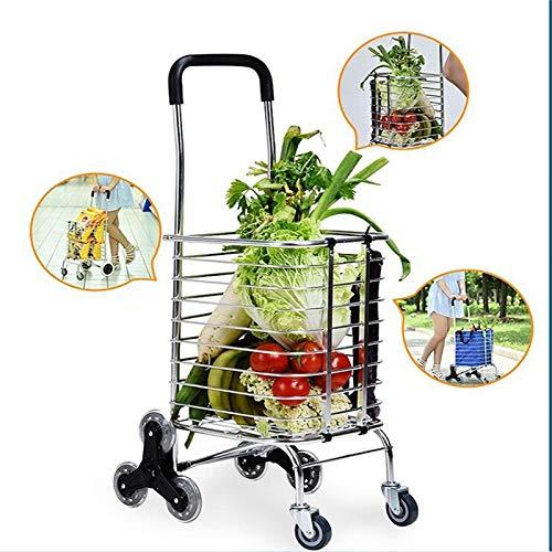 739fb536db01 Amazon.com: Yalztc-zyq16 Folding Shopping Cart Collapsible Grocery ...
