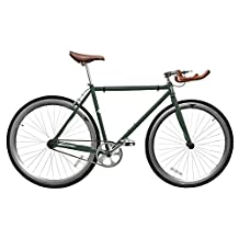 Zycle Fix ZF-FGRN-48 Forest Green Fixed Gear Bike, 48cm/One Size Frame