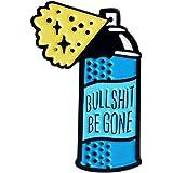 Niome Women Cute Spray Can Enamel Pin Statement Brooch Blue