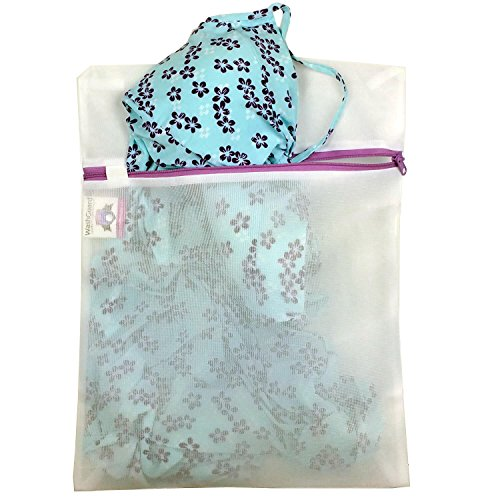 Bag Wash Delicates - Lingerie Bags for Laundry - Premium, Zippered, Delicates Laundry Bag Protects Clothes in the Wash - No More Snags, Knotting or Napping Caused By Washing Even in Delicate Mode. Medium - 1 Pack