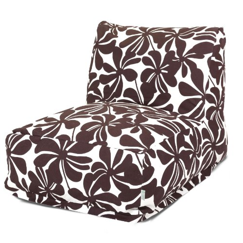 Majestic Home Goods Chocolate Plantation Bean Bag Chair Lounger (Outdoor Waterproof Bean Bags Furniture)