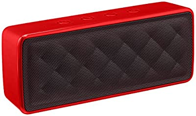 AmazonBasics Portable Bluetooth Speaker - Red