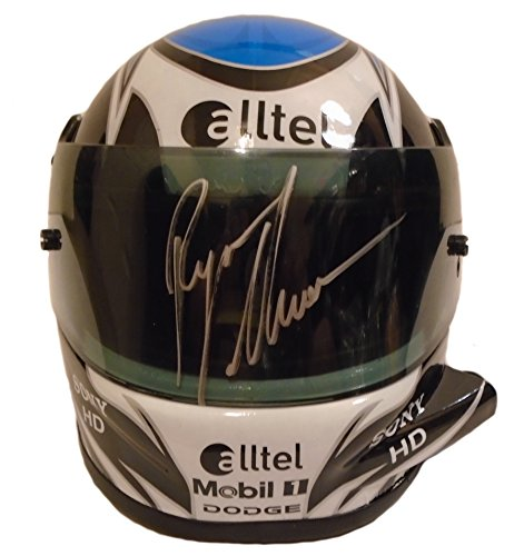 Nascar Ryan Newman Autographed Hand Signed Alltel 1:3 Scale Racing Mini Helmet with Proof Photo of Signing and COA, Monster Energy Cup ()