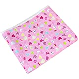 90 x 30cm Pink Heart Style Cotton Household Ironing Iron Board Table Cover