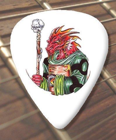 10 x tatuaje dragón asistente de púas de guitarra (D23)