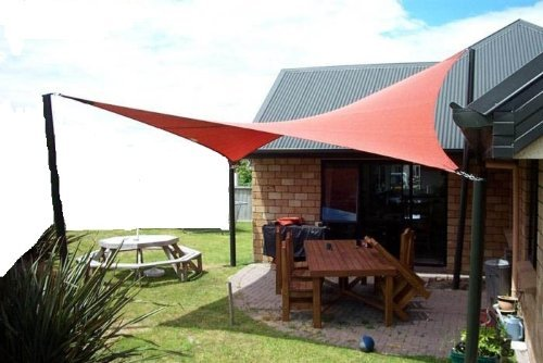 Petra's 20 Ft. X 13 Ft. Rectangle Terracotta Sun Sail Shade. Durable Woven Outdoor Patio Fabric w/ Up To 90% UV Protection. 20x13 Foot