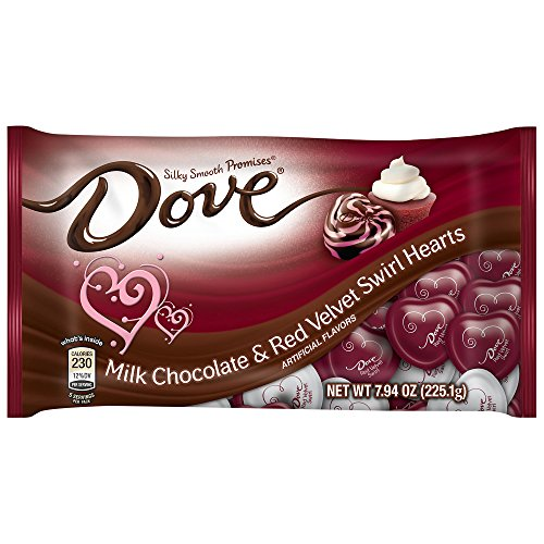 Dove Milk Chocolate & Red Velvet Swirl Valentine's Day Candy 7.94 Oz. Pack of 2