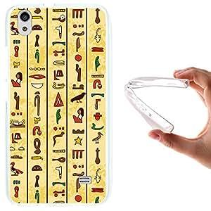 WoowCase - Funda Gel Flexible { Huawei Ascend G620S } Jeroglíficos Egipcios Carcasa Case Silicona TPU Suave