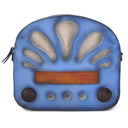 Pratesi Radio Days Santa Croce Lady Bag - SCE 436 Cuoio Santa Croce Celeste