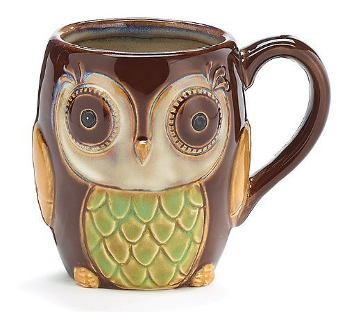 - Porcelain Chocolate Owl 12 Oz Coffee Mug/cup for Our Owl Lovers