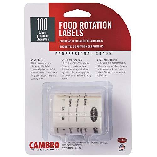 Cambro 23SL StoreSafe Food Rotation Labels - 100 / -