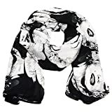 Falari Marilyn Monroe Print Scarf Smooth Soft Lightweight 100% Viscose