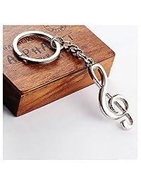 GOOTRADES Musical Note Key Ring Keyfob Keyring Music Symbol Keychain