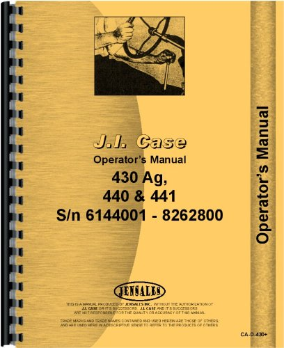 Read Online Case 435 Tractor Operators Manual (SN# 6144001-8262800) pdf epub