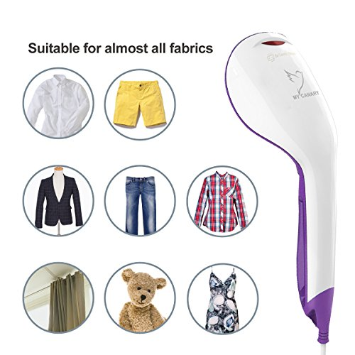 Mini Garment Steamer, 20'' Fast Heat-up Mini Portable Fabric Clothes Steamer with 60ml Capacity for Home and Travel,with Soft Lint Remover and Fabric Brush