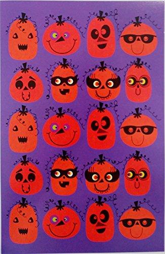Cute & Funny Jack-O'Lantern / Pumpkin Faces - Happy Halloween Greeting Card (Unisex) -